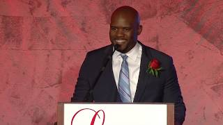 NE Patriots Coach Brian Flores Honored at YMCA Legends Ball