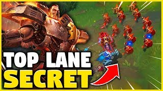 *ABUSE THIS SIMPLE TRICK* SECRET STRATEGY TO WIN FROM TOP LANE - League of Legends