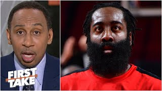 James Harden 'wants out by any means necessary' - Stephen A. on Harden and the Rockets | First Take