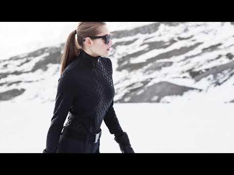 Goldbergh Rinako Womens 1/2 Zip Baselayer Top in Black