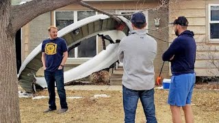 Aircraft engine fails as pieces fall from sky, littering debris in neighborhood outside of Denver