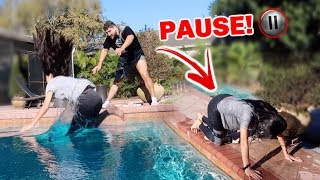 THE BEST PAUSE CHALLENGE!!! *WIFE VS HUSBAND*