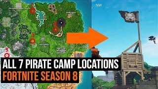 All 7 Pirate camp locations Fortnite Season 8 Week 1 Challenge