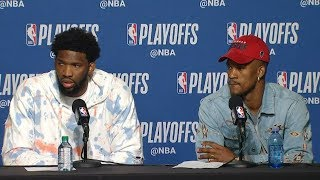 Joel Embiid & Jimmy Butler Postgame Interview - Game 5 | 76ers vs Raptors | 2019 NBA Playoffs