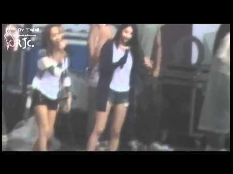 [Fancam] 100911 Jessica SNSD & Krystal f(x) - Rehearsal Tik Tok @ SM TOWN 2010 Shanghai