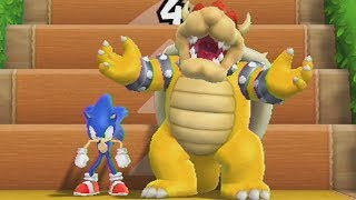 Mario Party 9 - Step It Up #26 -  Sonic VS Bowser
