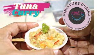 FRESH TUNA CURRY WITH COCONUT MILK (MINI FOOD) COOKING SOUND