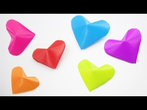 How to make origami 3D lucky hearts and ideas on how to use