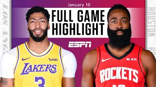 Los Angeles Lakers vs. Houston Rockets [FULL GAME HIGHLIGHTS] | NBA on ESPN