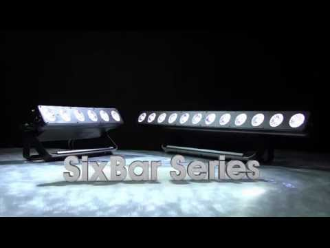 Elation Professional SIXBAR 500 & SIXBAR 1000 RGBAW+UV LED Uplights