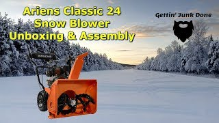 Ariens Classic 24 Inch Snow Blower Unboxing and Assembly by @GettinJunkDone