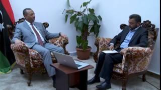 لقاء قناة الزنتان الفضائية مع رئيس الحكومة المؤقتة 16-10-2014