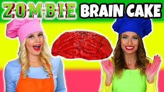 We Make a Zombie Brain Cake. Disney Zombies Inspired How to Make Step by Step.