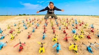 We Fly 100 RC Helicopters At Once - Worth ₹50000 /-