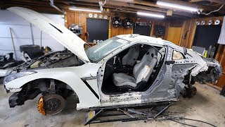 Removing the Damaged Quarter Panel & Door From My Totalled GTR