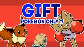 Can you beat Pokémon FIRE RED using only GIFT POKEMON? (NO ITEMS)