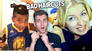 Reacting To The WORST Haircut Fails