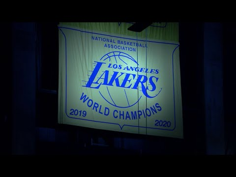 LeBron James & the Lakers Officially Hang 2020 Championship Banner