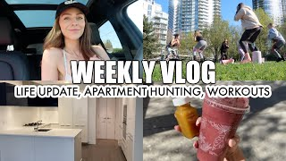 Life Update | apartment hunting, breakup, park workouts, weekly vlog