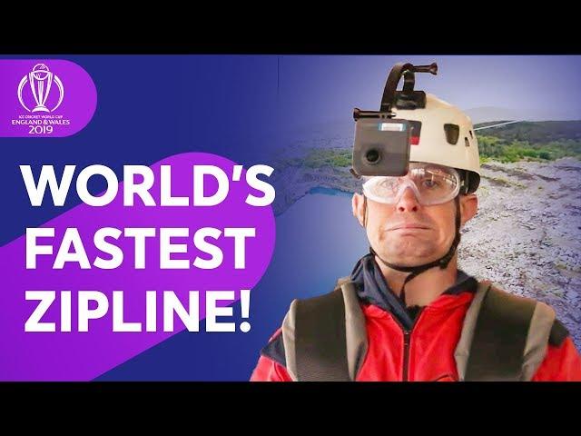 Graeme Swann & Shane Williams take on worlds fastest zip line!