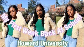 My First Week Back At Howard!!! | Howard University | Zakia Tookes