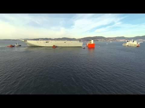 NAVANTIA: Secuencia completa del embarque del Adelaide.
