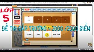 luyen thi ioe  lop 5  cap truong 2000 /2000