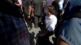 Trudeau takes a knee at anti-racism rally