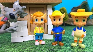 THREE LITTLE PIGS AND BIG BAD WOLF - HOUSE BUILDING CONTEST STORY