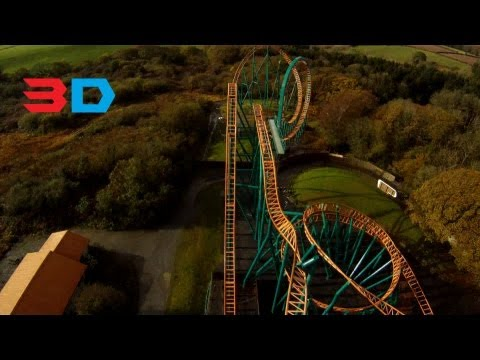 Speed: No Limits 3D Front seat on-ride HD POV, Oakwood Theme Park, Wales