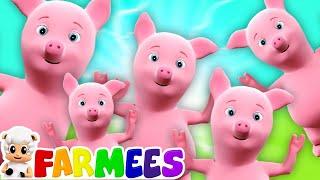 năm chú heo con | nhảy lên giường | bài hát heo nhỏ | vần mẫu giáo | bé vần | Five Little Piggies