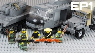 LEGO Battlefield Vietnam: Building the Tet Offensive in LEGO: EP1 -  Huey Choppers and Hellcat Tank!