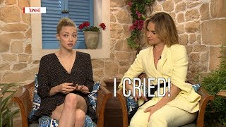 """I Cried!"" - Amanda Seyfried & Lily James Talk Working With Cher!"
