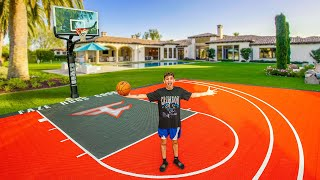 I Built an OFFICIAL Basketball Court in my Backyard!