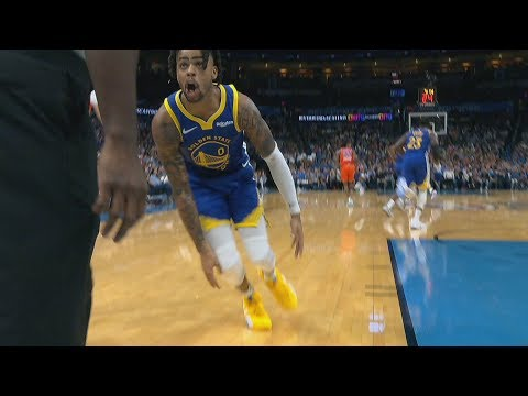 Thunder Blowout Warriors! D'Angelo Russell Ejected! 2019-20 NBA Season