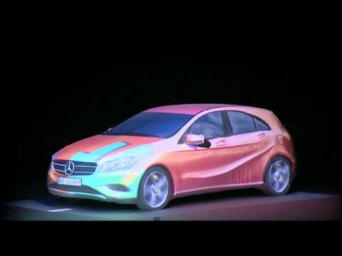Show - Original Mercedes A-Klasse 2012 - 3D Carmapping - VorAb-Premiere Überseestadt Bremen