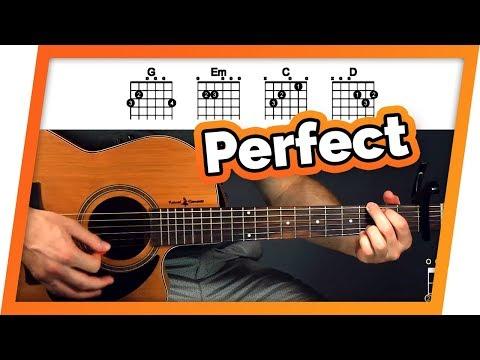 Perfect - Ed Sheeran - Easy Chords Guitar Tutorial (Lesson) For Beginners