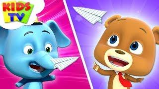 Paper Plane Challenge | Loco Nuts | Kindergarten Learning Videos For  Babies |  Kids Songs