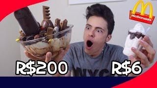 SUNDAE DE R$ 200 vs SUNDAE DE R$ 6