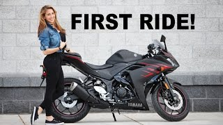 Girlfriends First Ride on her New Yamaha R3!