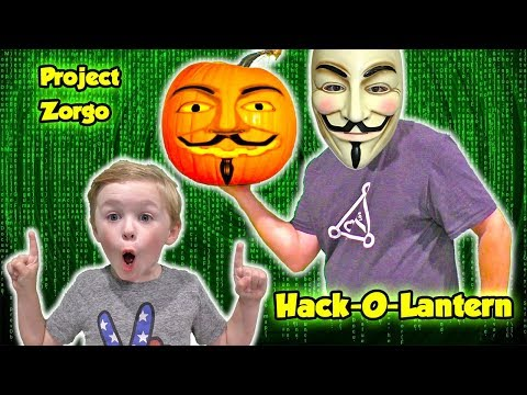 Project Zorgo Hacker Hacks our Pumpkin with a Top Secret Spy Gadget - We Need a Safe House