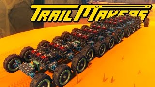 26 WHEEL GIANT ROCKET POWERED ROCK CRAWLER MONSTER CAR! - Trailmakers Early Pre-Alpha Gameplay