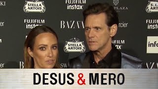Jim Carrey Flames Fashion Week