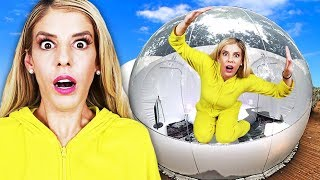 24 Hours Overnight inside a GiANT BUBBLE house! 👀 (Matt hypnotized at 3am not from Game Master)