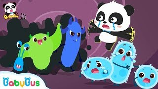 Big Germs are Making a Mess in Baby Panda's Body | Kids Good Habits | BabyBus Safety Tips | BabyBus