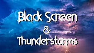 Black Stormy Moonless Night Rain and Thunderstorm Sounds for Sleeping Black Screen