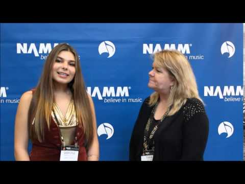 NAMM 2015:  Interview with Singer Songwriter Sabrina Lentina at The NAMM 2015 Show