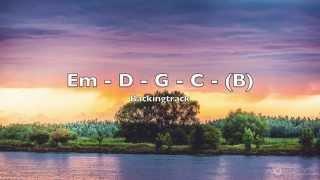 Melodic guitar backing track E minor (Em) pop ballad