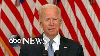 Biden addresses nation on crisis in Afghanistan