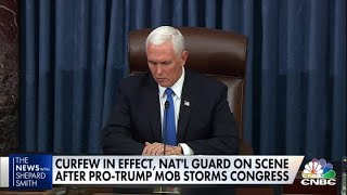 Vice President Mike Pence condemns violence, calls for freedom